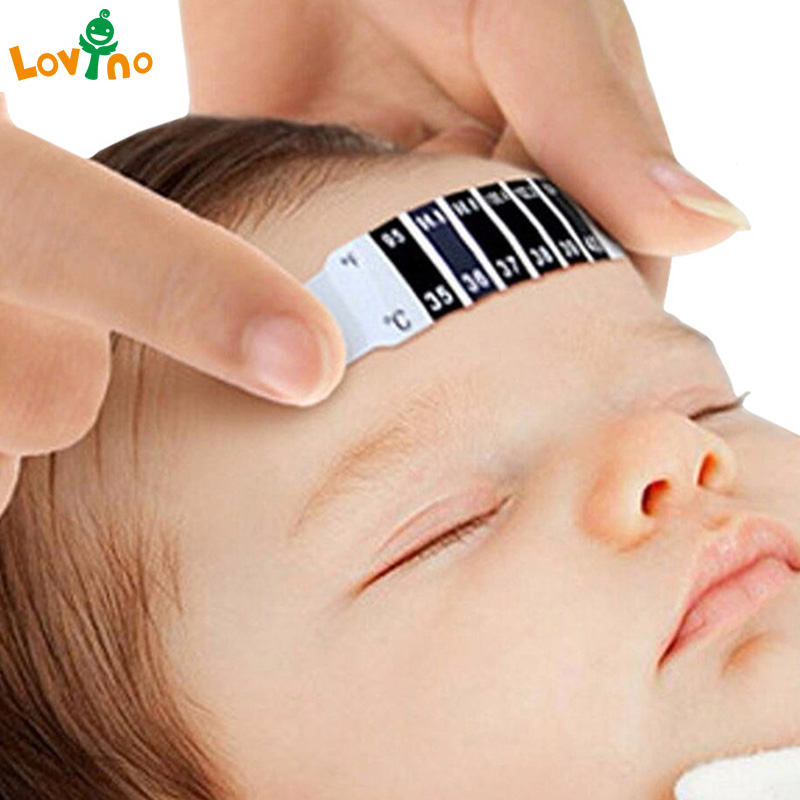 Forehead Head Scale Thermometer Strip Baby ABS Babies Care Reusable Flexible Toddler Care Health Monitors Child Kid Fast Ship