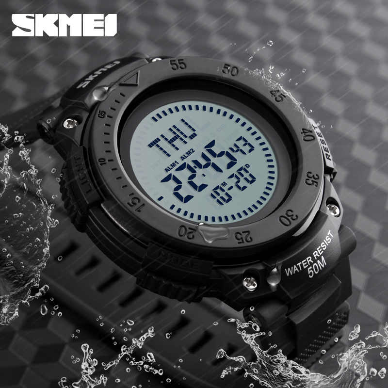 SKMEI Compass Watch Military Outdoor Sports Watches Men Waterproof Electronic LED Digital Watch Luxury Man Watches Clock Men