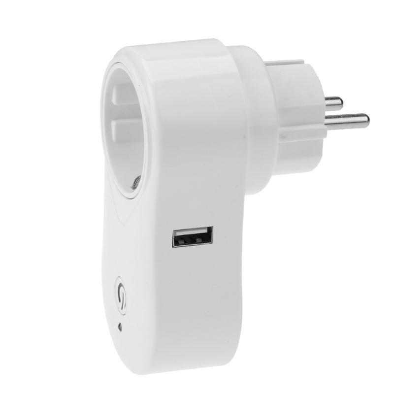 Wi-Fi розетка Разъем smart приложение таймер гнездо беспроводной пульт дистанционного управления домашней автоматизации умный дом ЕС <font><b>Plug</b></font> для со&#8230;