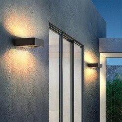 Наружный водонепроницаемый алюминиевый настенный светильник 7 Вт, светодиодный настенный светильник для сада, веранда, патио, коридор, пере...