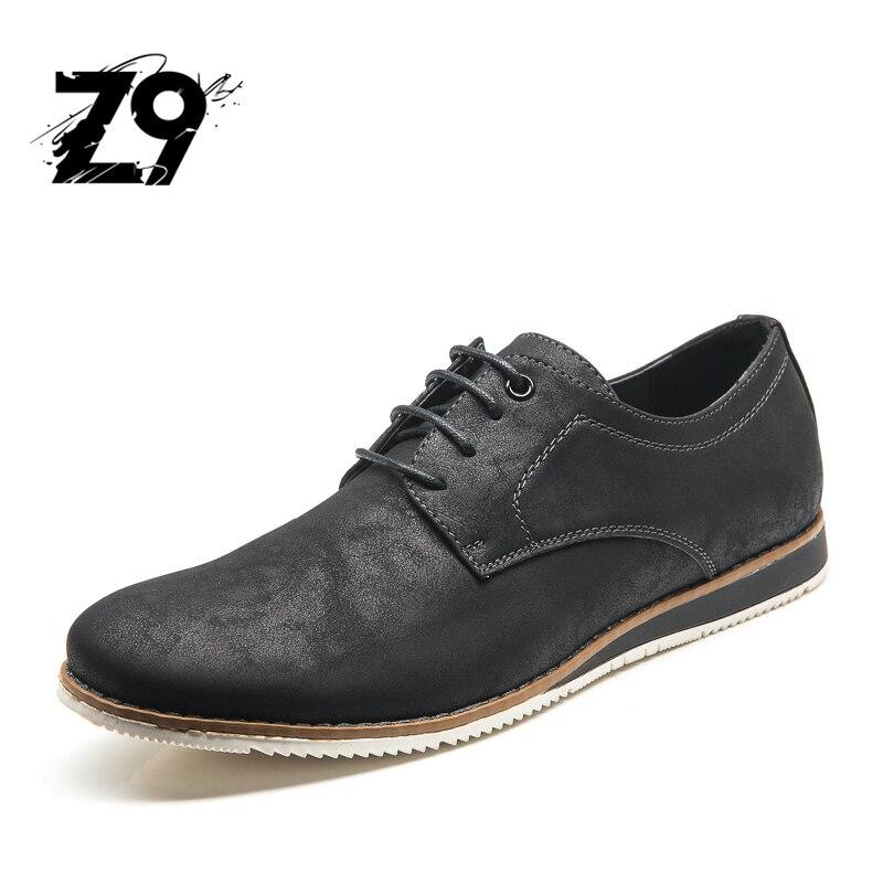 2017 zapatos de Cuero Sintético de los hombres Flat Lace up Hombre Suela De Goma