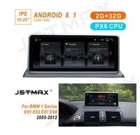 JSTMAX 10.25 Android 8.1 PX6 Car GPS Navi Stereo For BMW E81 E82 E87 E88 6 Core CPU 2+32G RAM IPS Screen Multimedia Player