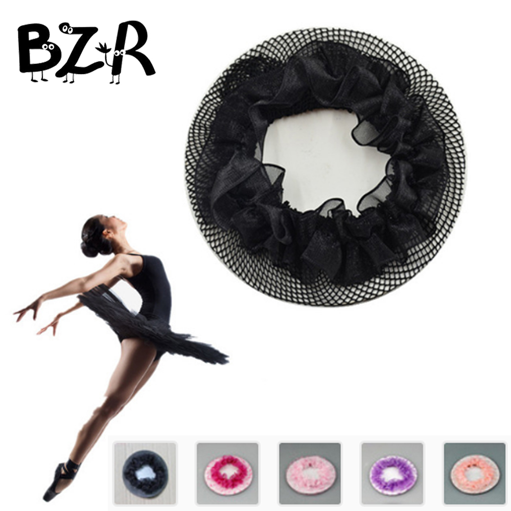 10pcs Solid Hair Clip Snood Hairnet Kids Girls Lady Woman Decorative Headdress Ballet Dance Hairnet For Bun mix color acceptable