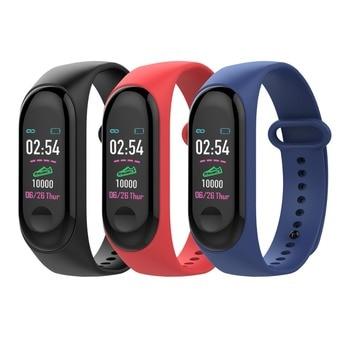 34352f0340e6 Pulsera inteligente Color pantalla 85 mah Frecuencia Cardíaca Monitor de  presión arterial pulsera ...