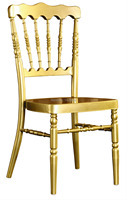 Wholesale Quality Strong Gold Aluminum Napoleon Chair For Wedding Events Party