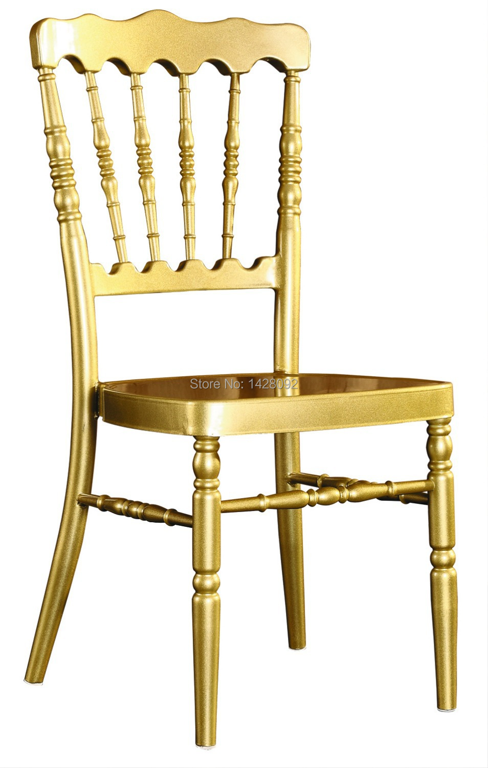 Wholesale Quality Strong Gold Aluminum Napoleon Chair For Wedding Events  Party(China)