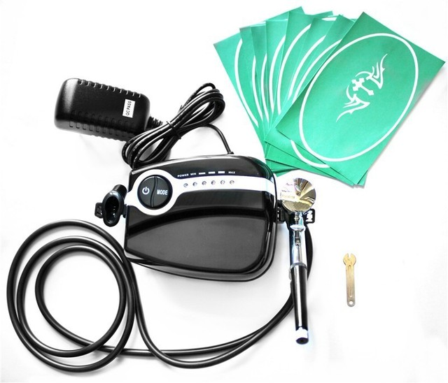 ABEST Portable Airbrush Compressor kit for makeup tattoo with airbrush and stencil 5 speed AC05BKT