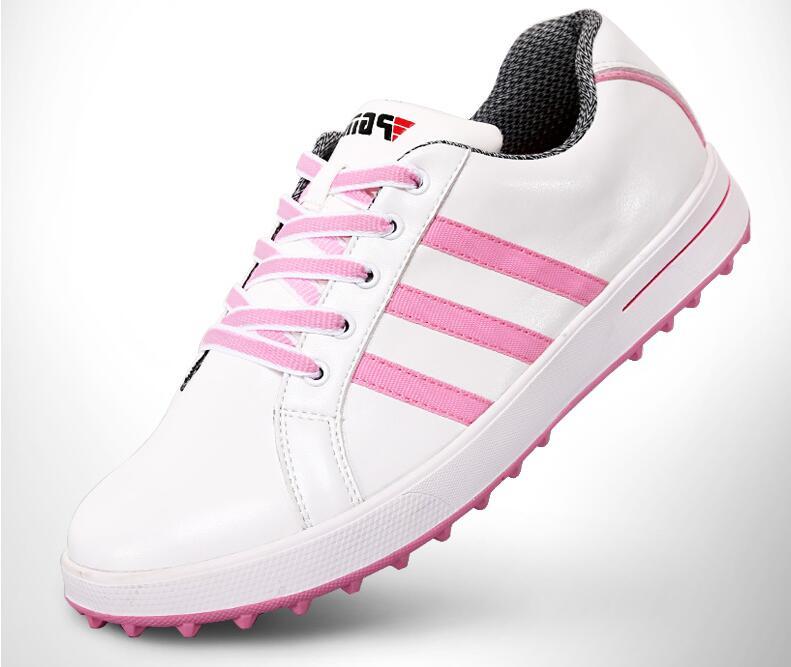 Лидер продаж! PGM дамы Для женщин спортивная обувь Пояса из натуральной кожи обувь Гольф ...
