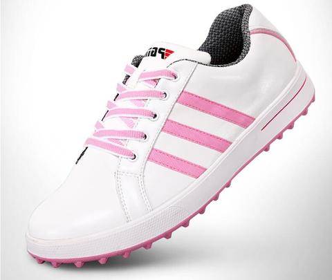 Sapatos de Couro Sapatos de Golfe Presente para o Bolsa de Sapatos & à Prova Hot! Senhoras Mulheres Esporte Genuíno Sapatos Esportes Luz & Estável d' Água. Frete Grátis Pgm