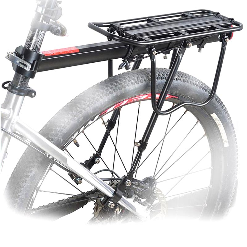 New Style Durable Aluminum Alloy MTB Mountain Bike Bicycle Rear Seat Cargo Rack Outdoor Cycling Touring Carrier Disc Brake Mount