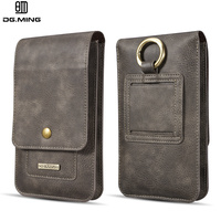 DG Ming Genuine Leather 2 Phone Bags Purse Wallet Cover Pouch For Nokia Samsung LG Huawei