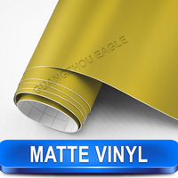 Matte Gold Vinyl Car Wrap Film Self Adhesive Car Wrapping Size 1 52x30m With Air Release