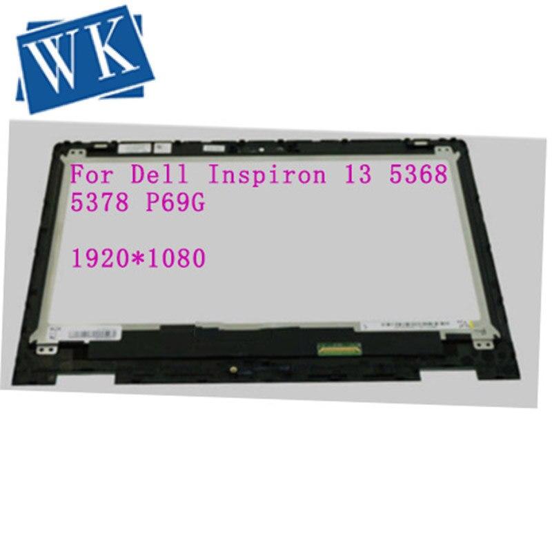 13,3 ''ЖК дисплей с рамкой NT133WHM A11 B133HAB01.0 сенсорный экран дигитайзер панель для DELL Inspiron 13 5368 5378 P69G