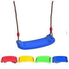 Child Outdoor Swing Rope Seat Toys For Kids New Plastic Swings Belt Seat Toys High Quality Hanging Kindergarten Playground Gifts(China)
