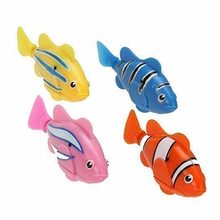 Fish Electric Toy Pet Fish With Aquatic Gift for Kids Children Activated Robotic Fish can Swims Color Random(China)