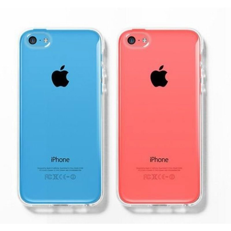 Portefeuille For Apple iPhone 5C iPhone5C Clear Case Slim Soft TPU Case for Coque iPhone 5C