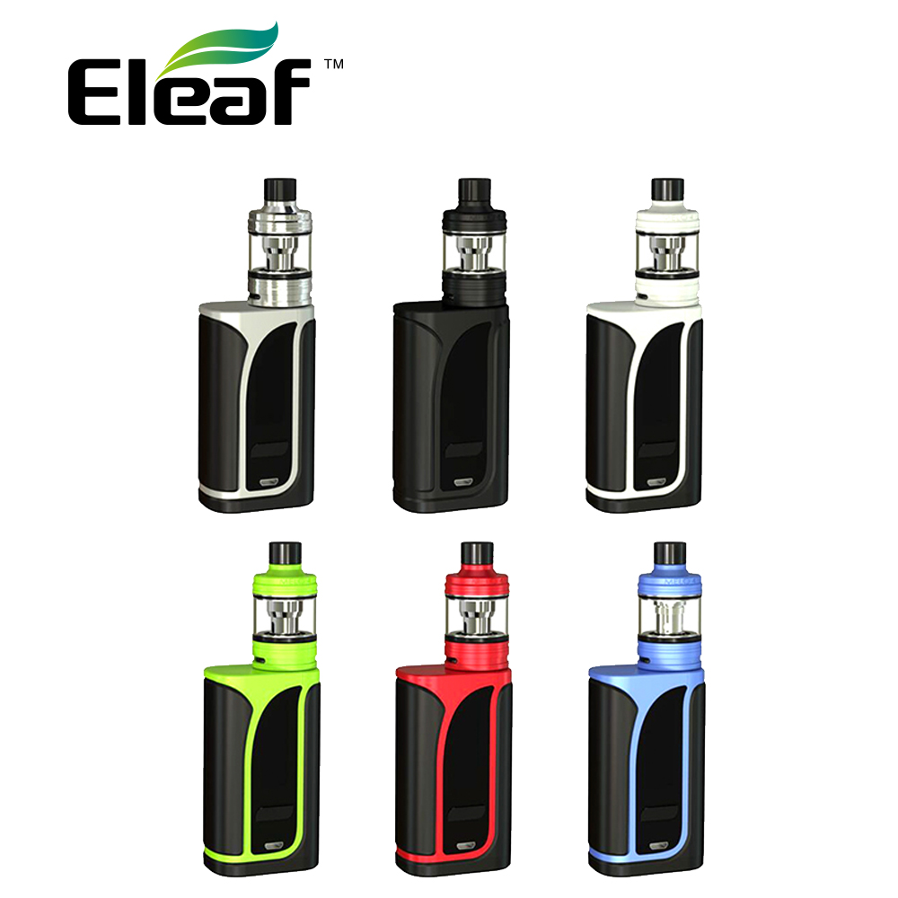 200 Watt Original Eleaf IKuun I200 Vape Kit mit MELO 4 Zerstäuber 4,5 ml & Gebaut In 4600 mAh Batterie Mod & EC2 Spulen e-zigarette Kit