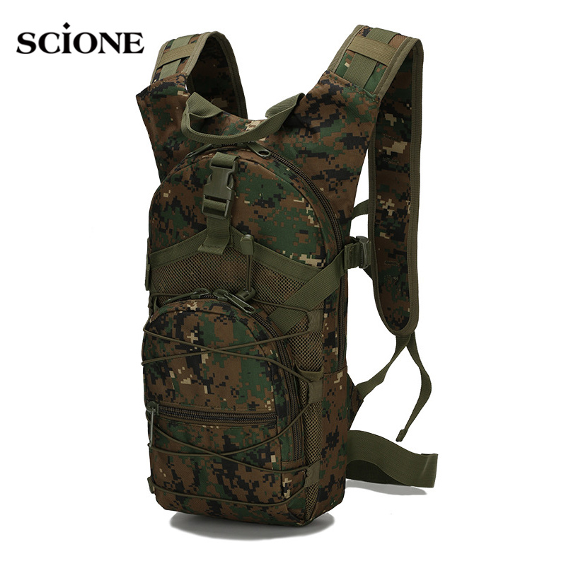 Outdoor Sports Small Bags 3P Tactical Camouflage Oxford Bycycle Backpack Women Men Climbing Cycling Running Rucksack XA568YL  figurine