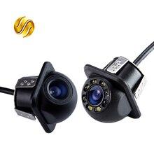 Мини водонепроницаемая автомобильная парковочная камера заднего вида HD Проводная Автомобильная камера заднего вида с или без светодиодный