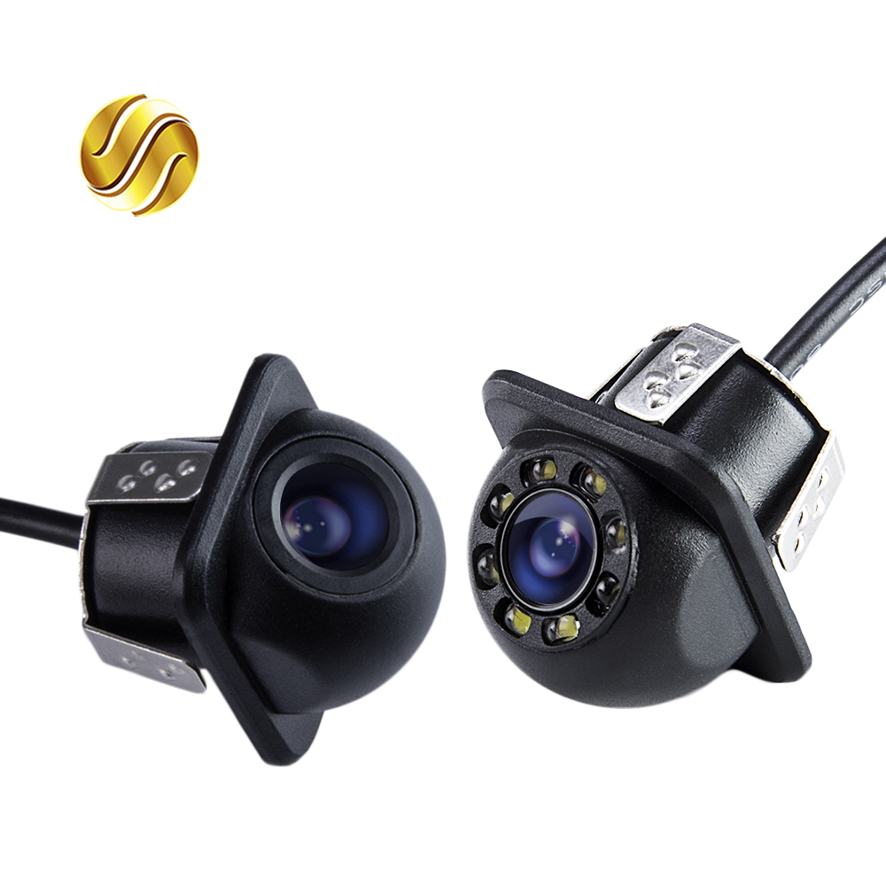 Mini Waterproof Car Parking Assistance Reversing Back Rear View Camera HD Wire Car Rear View Camera With or Without LED