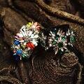 Marca de fábrica famosa del juego importante planta flores cristal Retro palacio real barroco color del arco iris grande grande pulseras novia de regalo