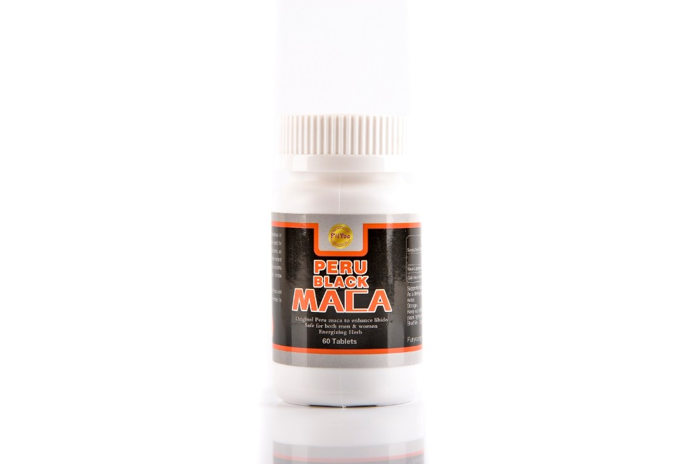 60 caps/bottle, 2 bottles/lot, peru black maca root extracts for both men and women 2