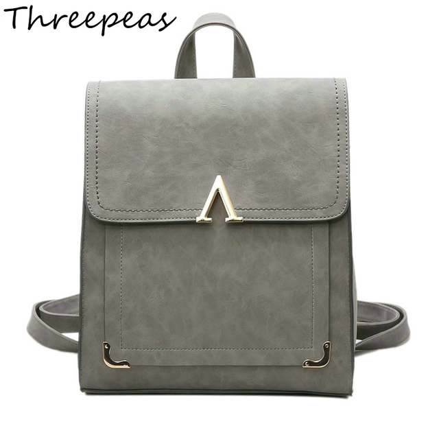 Threepeas Fashion Women Backpack Bag Messenger Back To School Cute V Letter