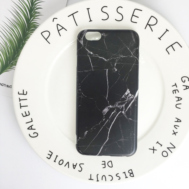 Marble Color Silicone Case for iPhone