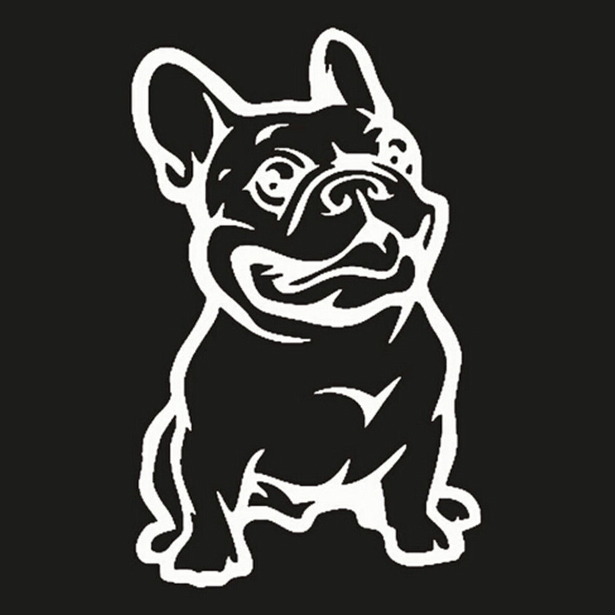 Strong Adhesive Stickers French Bulldog Dog Car Sticker Vinyl Cars Decal