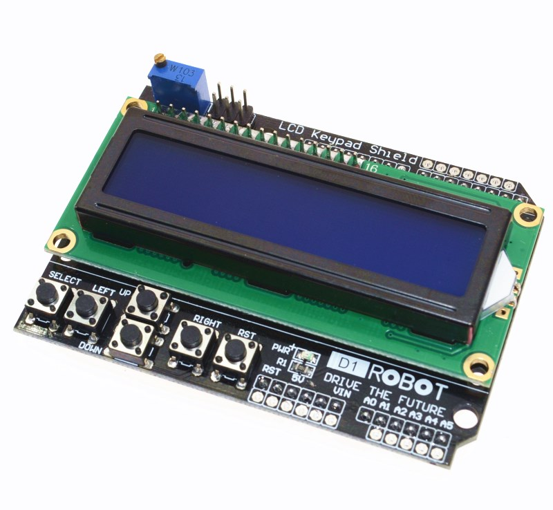 1PCS LCD Keypad Shield LCD1602 LCD 1602 Module Display For Arduino ATMEGA328 ATMEGA2560 raspberry pi UNO