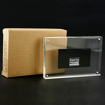 5-palcový (127 * 89 mm) průhledný akrylový fotorámeček Rám z organického skla (tloušťka: 8 mm + 8 mm)