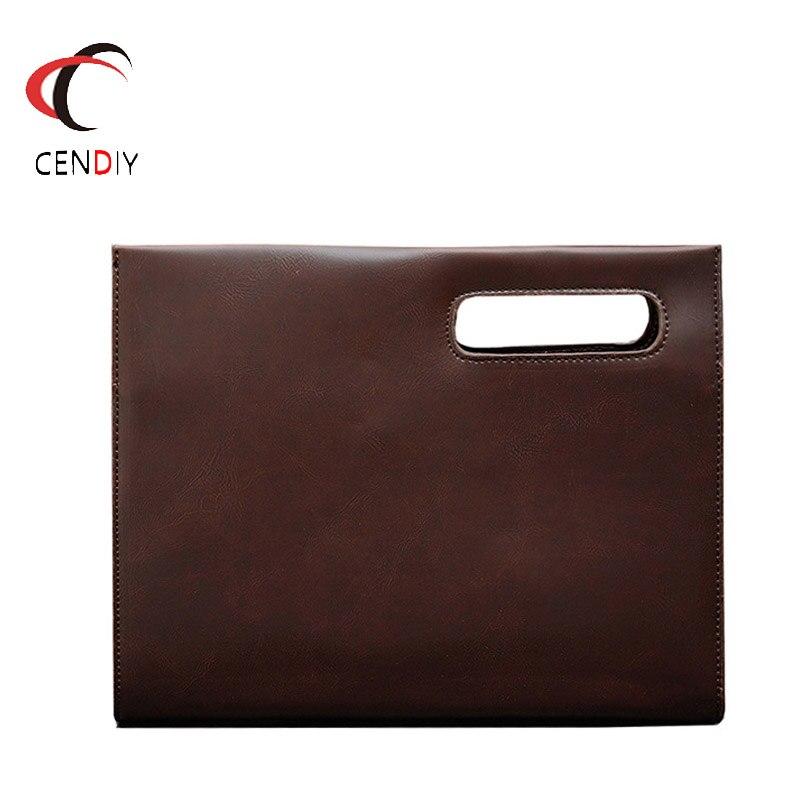 Vintage Crazy Horse PU Leather Men Briefcase Brand Men's Messenger Bag Male Business Fashion Shoulder Bags Travel Bag Handbag
