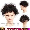 15 см Реми реальные Человеческие волосы парик кружева тонкой кожи тупею мужские женщины вьющиеся волнистые волосы частей замена системы ботворезы