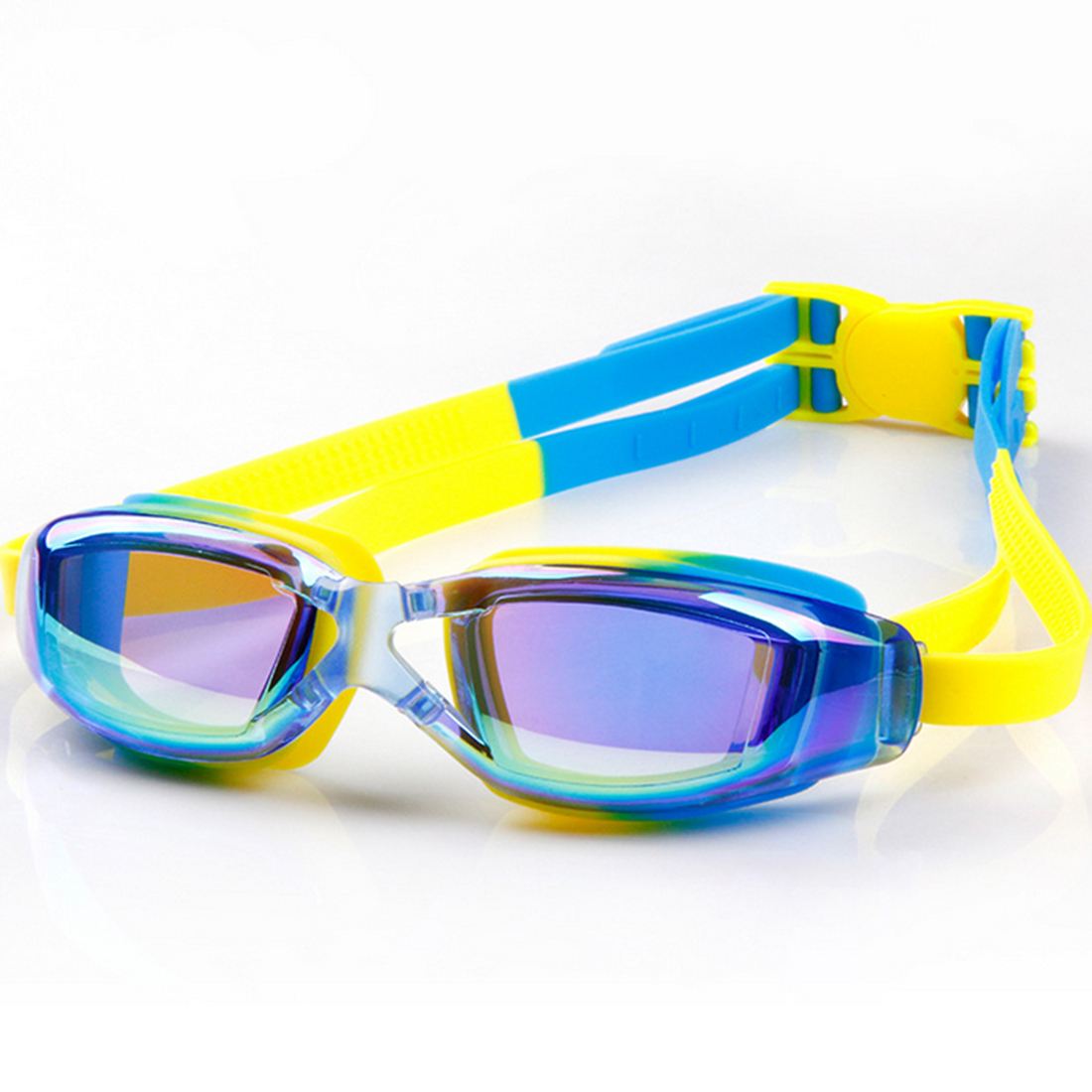 uv protection waterproof kids swim goggles anti fog lights