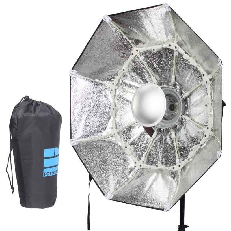 70cm Silver Portable Collapsible Beauty Dish Octagon Softbox Bowens Mount for Bowens Mount Godox Studio Flash high quality foldable 70cm photo studio beauty dish speedlite octabox softbox inner sliver or diffuser