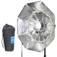 70cm Silver Portable Collapsible Beauty Dish Octagon Softbox Bowens Mount for Bowens Mount Godox Studio Flash