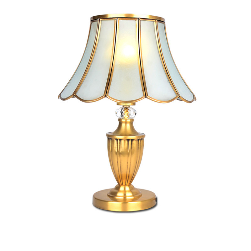 Fashion Copper Lamp Bedroom Bedside Lamp Table Lamp Brief