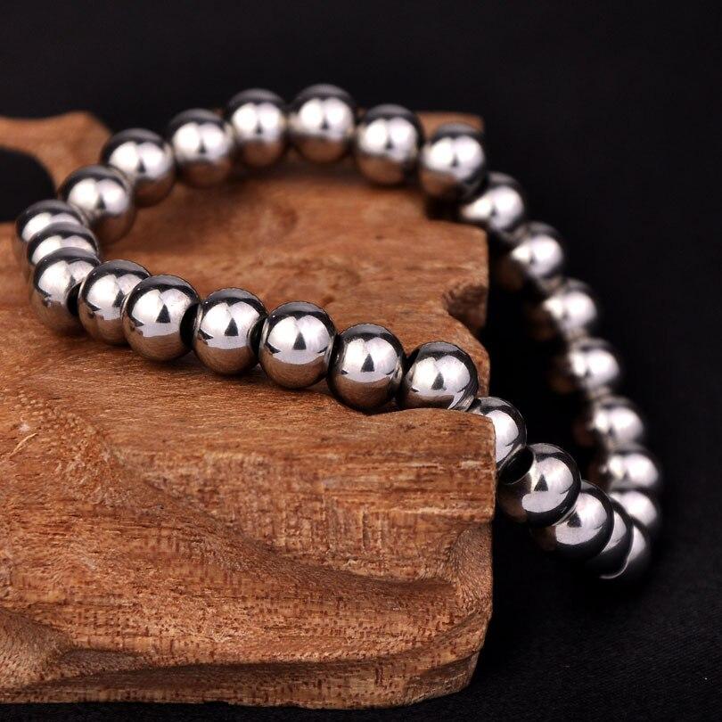New Fashion Never Fade 316l Stainless Steel Strand Bracelet Ball Beaded Bracelets U Customize Size