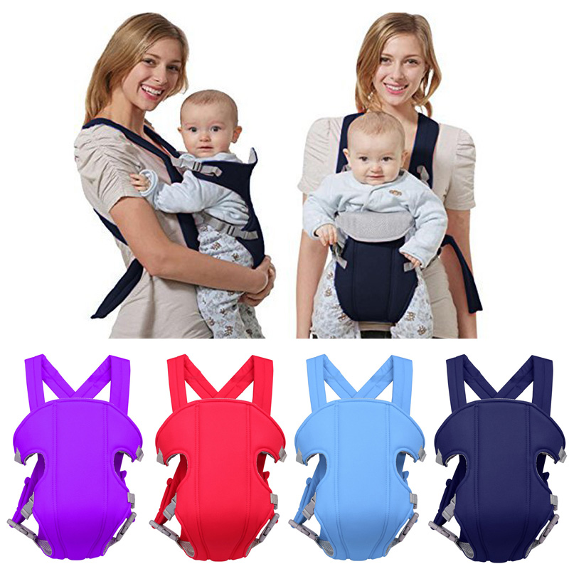 Baby Carrier Pouch Sling-Backpack Front-Facing Kangaroo Comfortable Adjustable 2-30-Months title=