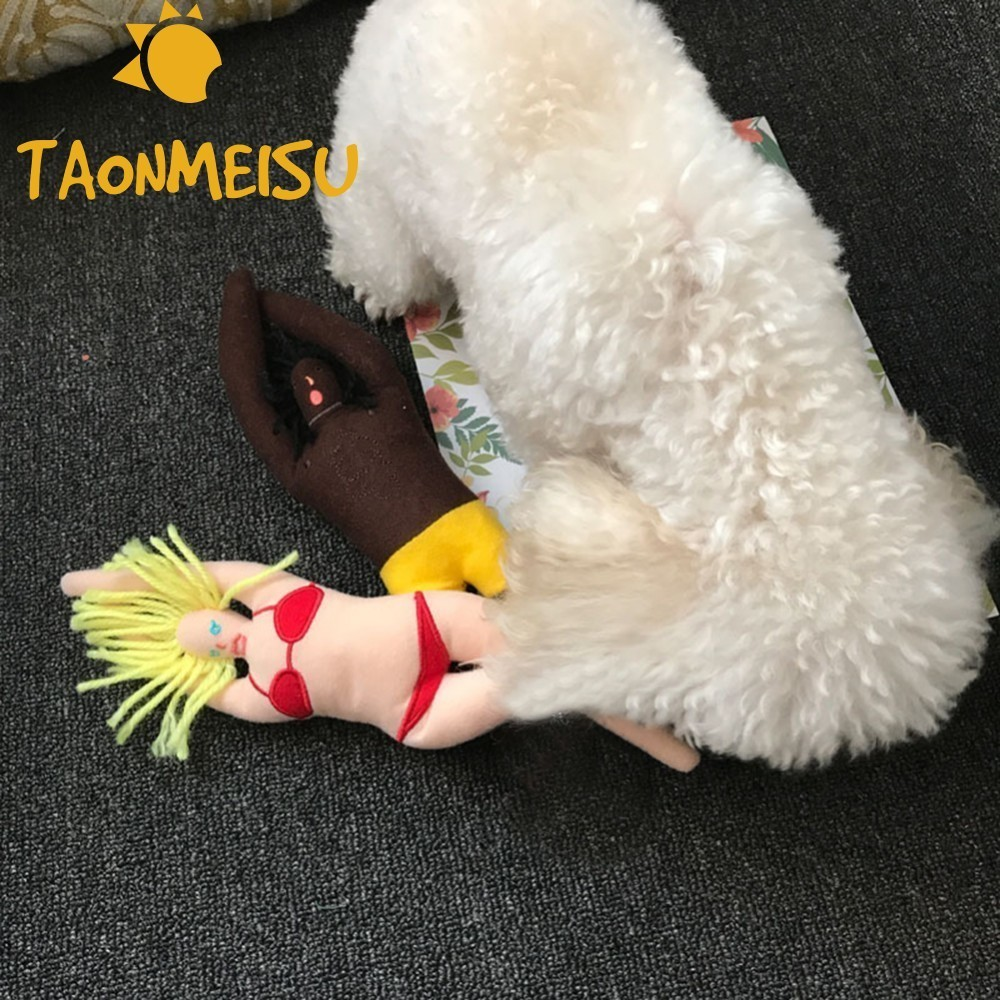 1PC Plush Dog Chew Squeak Toys Funny Diving Doll Pet Toys Puppy Sound Toy Training Interative Throw Pick Up Bone Toy