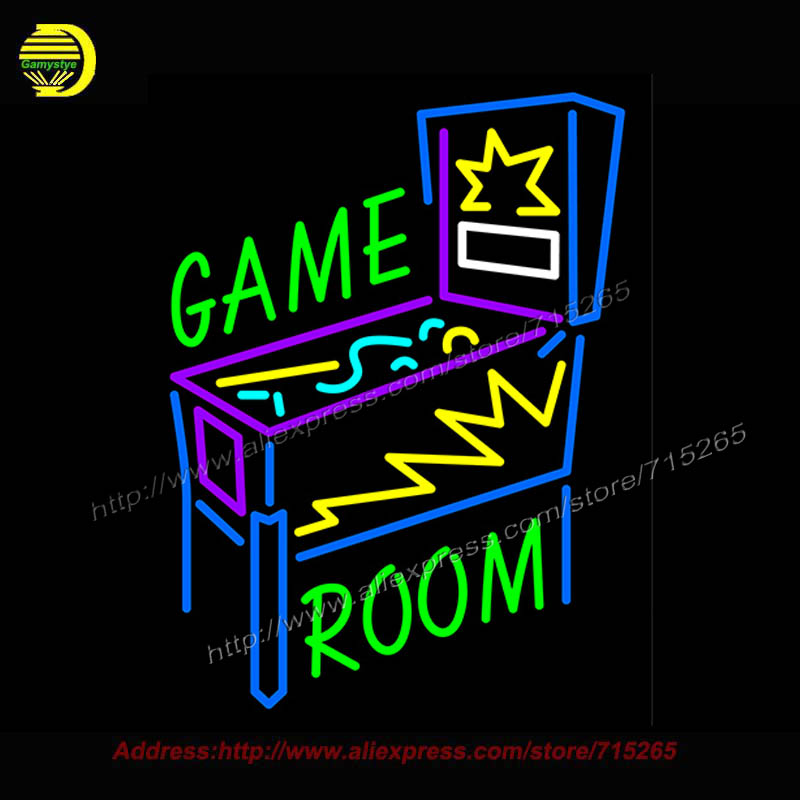 Game Room Pinball Machine Neon Sign Real Neon Bulb Handcrafted Recreation Room Bar Pub Wall Iconic Sign light Art Sign 31x24 custom signage neon signs pizza beer real glass tube bar pub signboard display decorate store shop light sign 17 14
