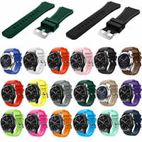 Gear S3 Frontier / Classic Watch Band 22mm Soft Silicone Watch Replacement Bracelet Strap for Huami Amazfit Stratos Pace Band