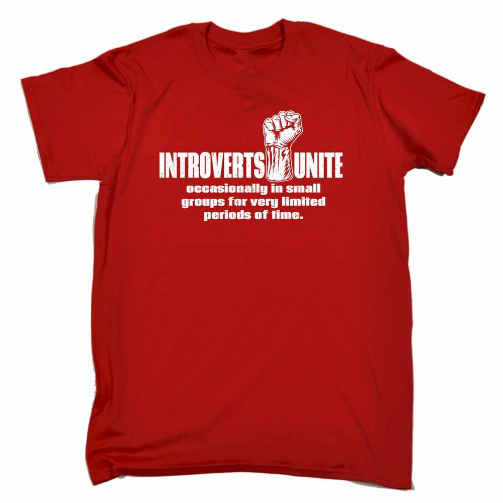 Introverts Unite Occasionally In Small Groups T Shirt Joke Funny Birthday Gift Men Short Sleeve Shirts From Mens Clothing On