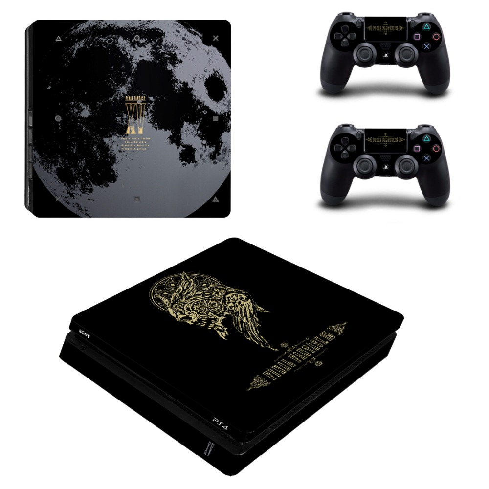 Final Fantasy PS4 Slim Console and Controllers Skin Kit Vinyl Decal Sticker for Playstation 4 Slim Console