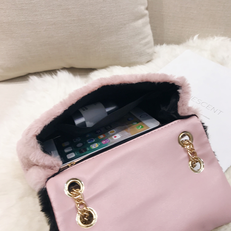 35a128dbf688 Patchwork fabric flannel bag Like pig chains shoulder bags female mini  handbags for women leather handbags brand luxury designer-in Shoulder Bags  from ...