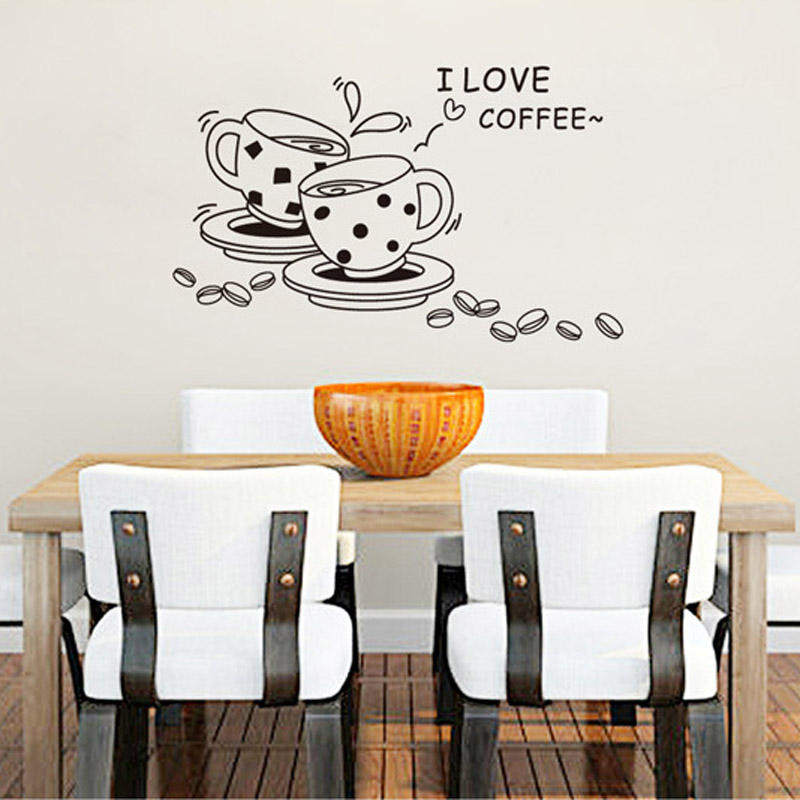 Kitchen Decor Quote Wall Stickers Art Dining Room Removable Decals DIY China