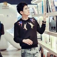 FanZhuan Free Shipping Men S Man Fashion Series Casual Male New Metrosexual Black T Shirt T