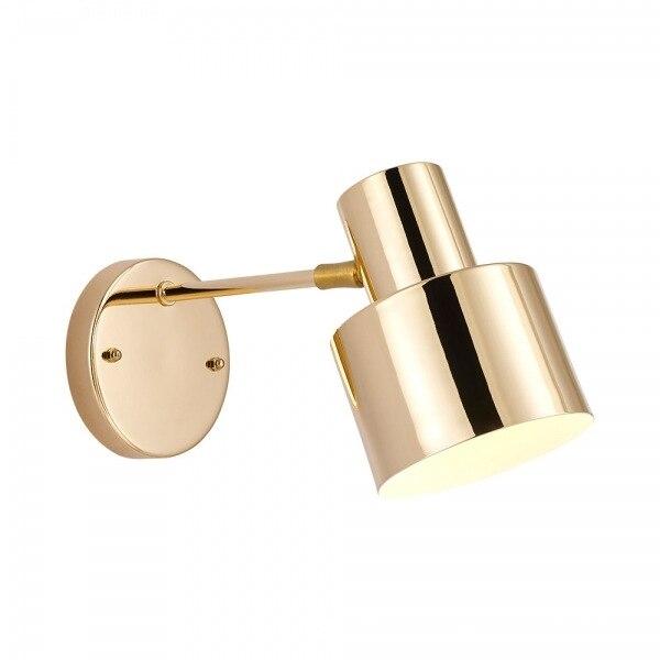 Antieke Gouden Lange Swing Arm Wandlamp Voor Werkkamer Nachtkastje Slaapkamer Verlichting Blaker