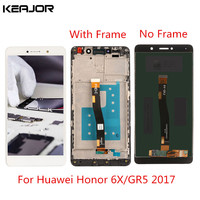 For Huawei Honor 6X LCD Screen Tested Display Touch Screen With Frame Replacement For Huawei GR5