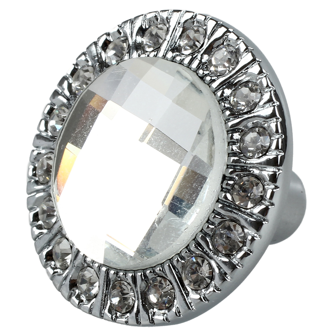 1pcs Crystal Glass Clear Round Pull Handle Glittering